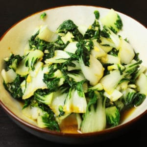 Garlic Bok Choy by @jesselwellness