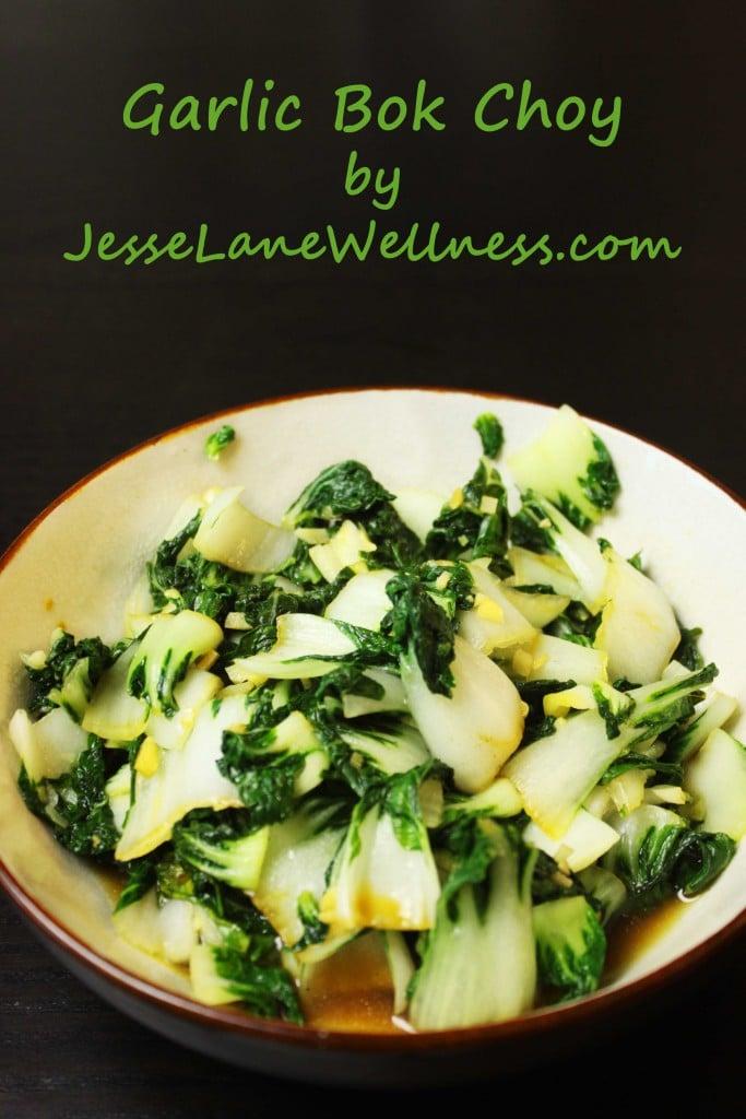 Garlic Bok Choy by @jesselwellness #bokchoy #vegan