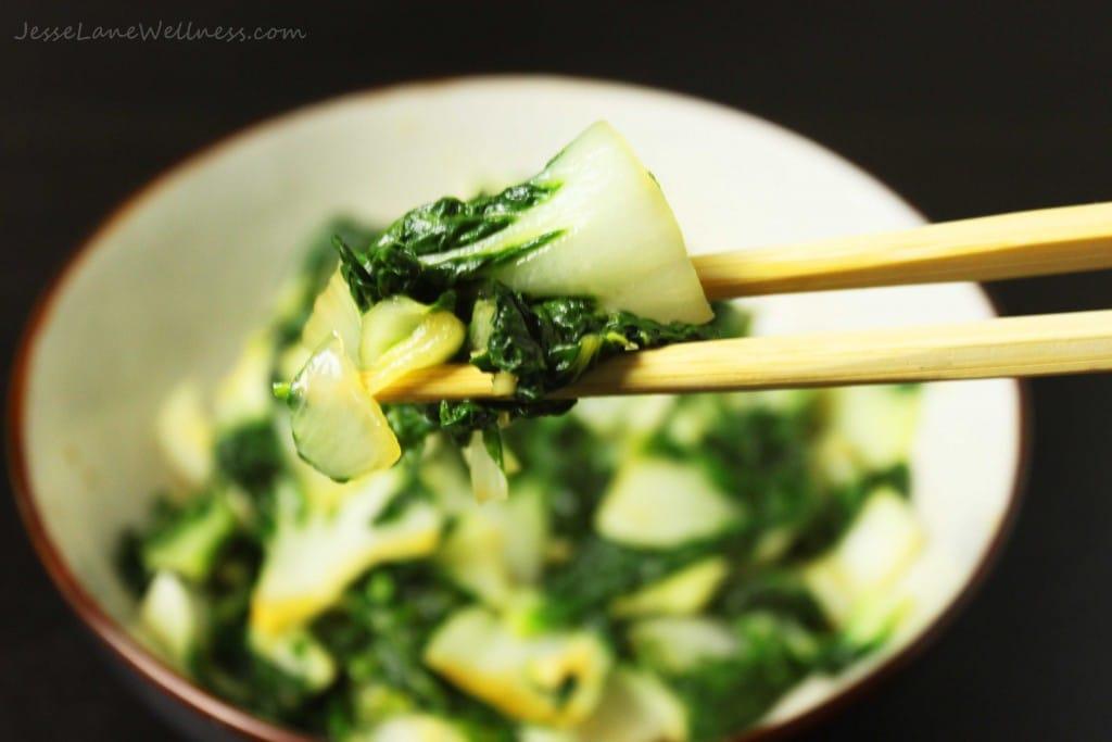 Garlic Bok Choy by @jesselwellness #glutenfree #sidedish