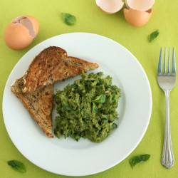 Healthy Scrambled Eggs by Jesse Lane Wellness