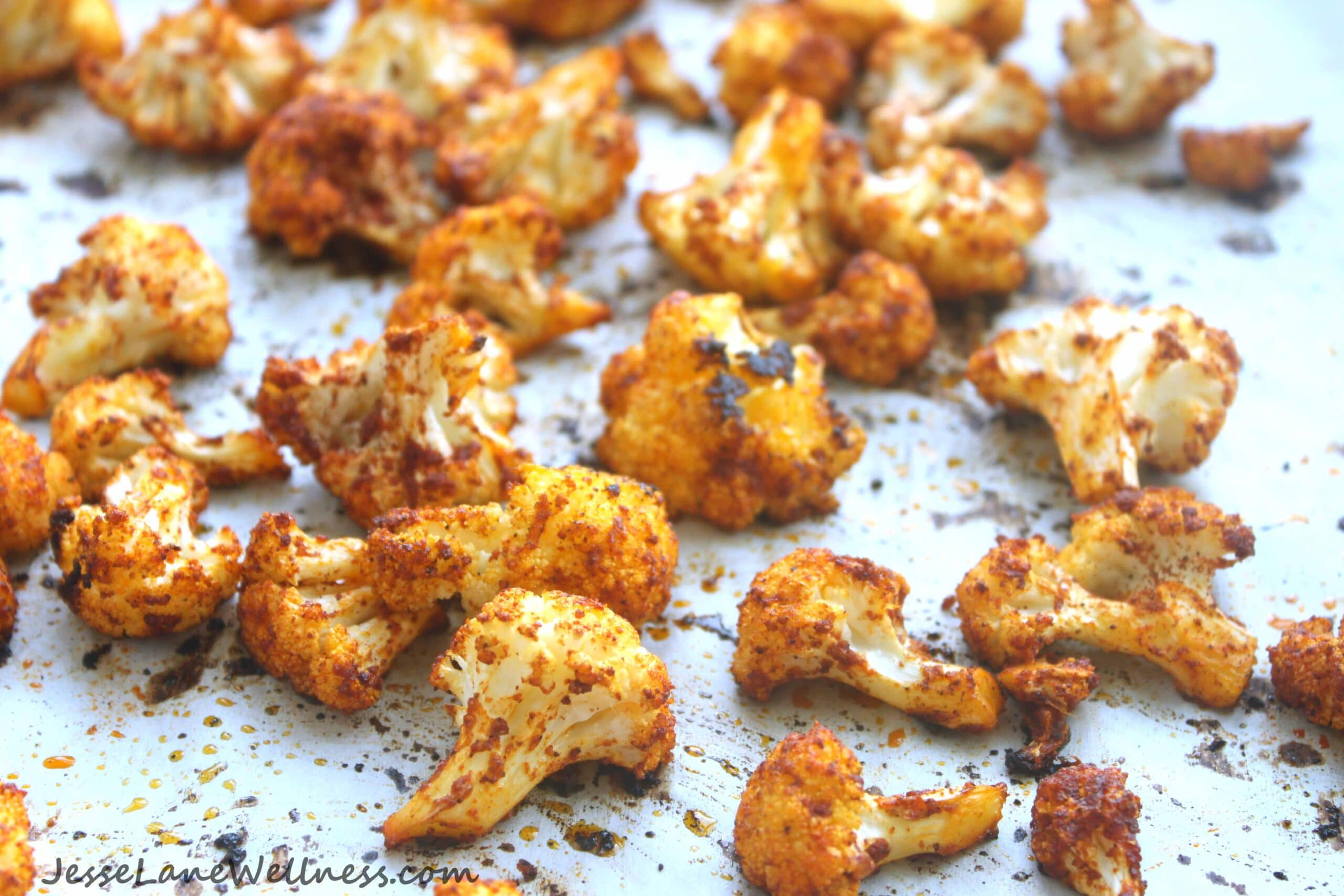 Roasted Curry Cauliflower by @jesselwellness #cauliflower #glutenfree