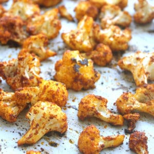 Roasted Curry Cauliflower by Jesse Lane Wellness #cauliflower #glutenfree