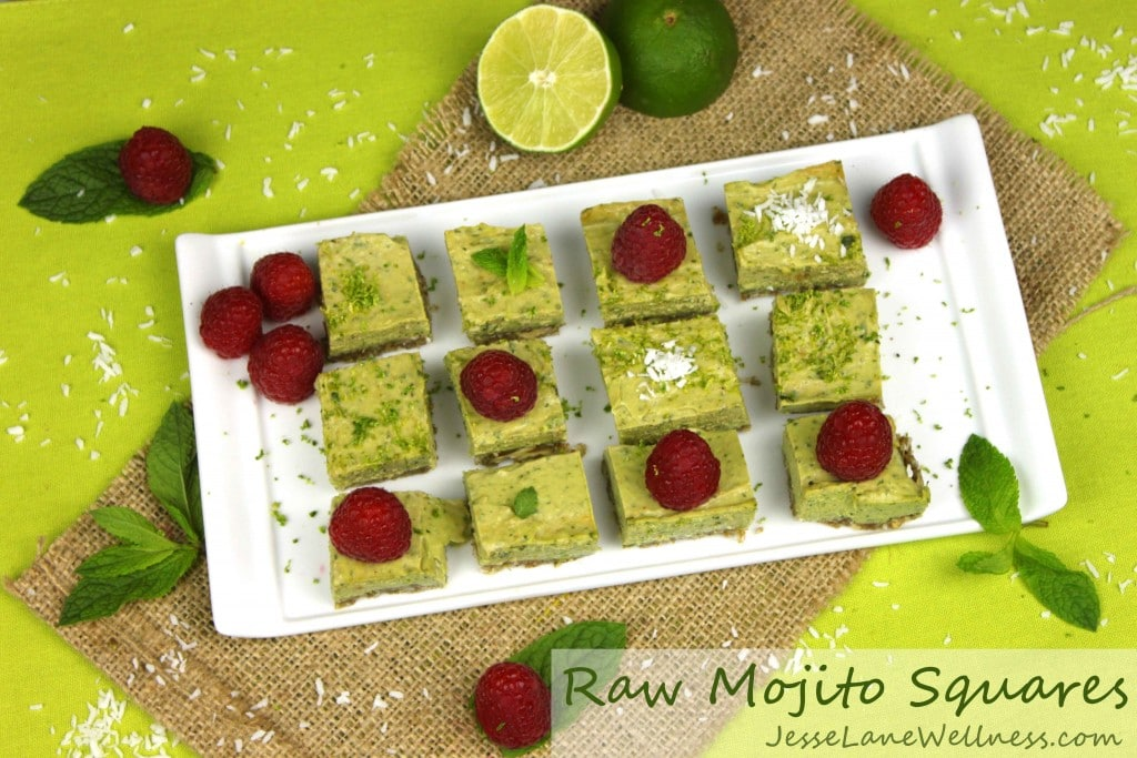 Raw Mojito Squares by @jesselwellness #raw #vegan