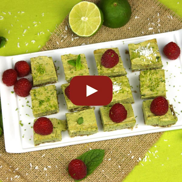 Raw Mojito Squares by @jesselwellness #raw #vegan #video