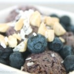 Vegan Blueberry Ice Cream Recipe by @jesselwellness #dessert #healthy