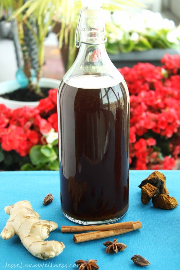 chaga mushroom tea recipes by @jesselwellness #chaga #drink