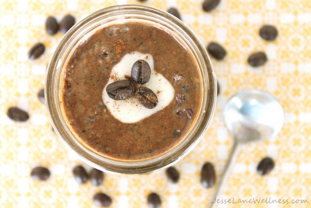 French Vanilla Cappuccino Chia Pudding by @jesselwellness #chia #cappuccino