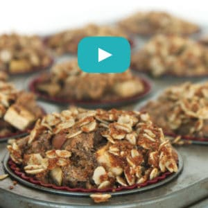Apple Cinnamon Muffins by Jesse Lane Wellness Video #nutfree #muffins #video