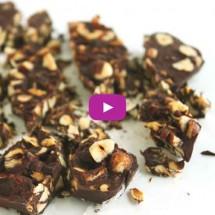 Carob Hazelnut Bark by @jesselwellness #carob #bark #video copy