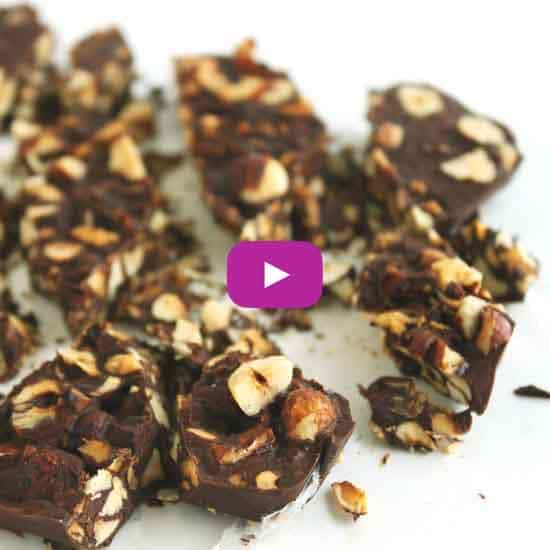 Carob Hazelnut Bark by @jesselwellness #carob #bark #video copy