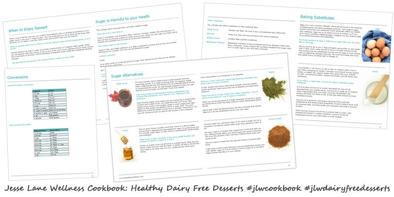 Jesse Lane Wellness Cookbook Healthy Dairy Free Desserts Sneak Peek at the Guides @jesselwellness #jlwdairyfreedesserts