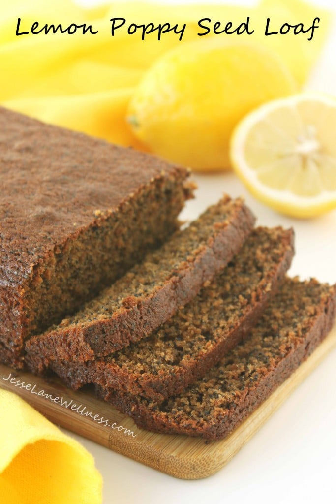 Lemon Poppy Seed Loaf by @jesselwellness #poppyseed #dairyfree