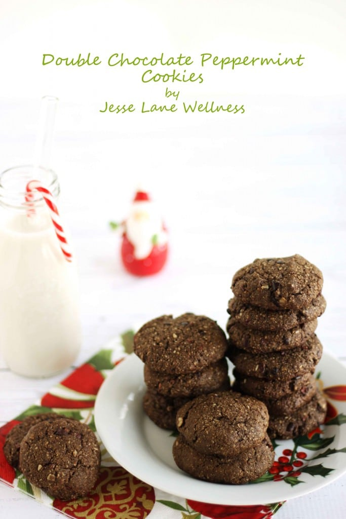 Double Chocolate Peppermint Cookies by @jesselwellness #cookies #chocolate