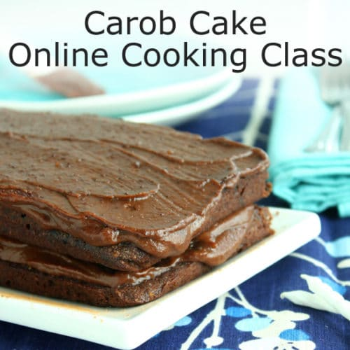 Carob Cake with Fudge Icing Live Online Cooking Class with @jesselwellness