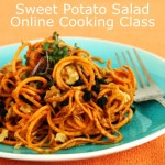 Raw Sweet Potato Salad Live Online Cooking Class with @jesselwellness