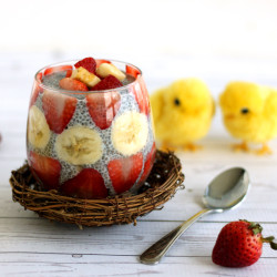 Strawberry Banana Chia Pudding Easter by Jesse Lane Wellness
