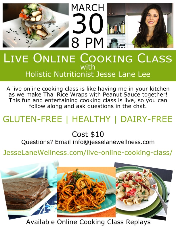 Thai Rice Wraps Live Online Cooking Class with @jesselwellness #cookingclass #Thai