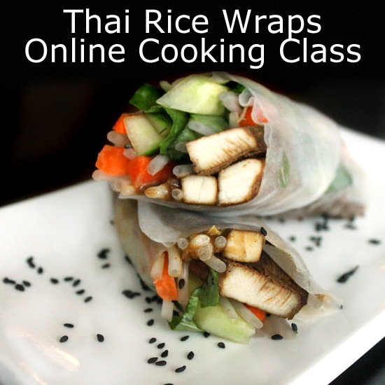 Thai Rice Wraps with Peanut Sauce Live Online Cooking Class with @jesselwellness