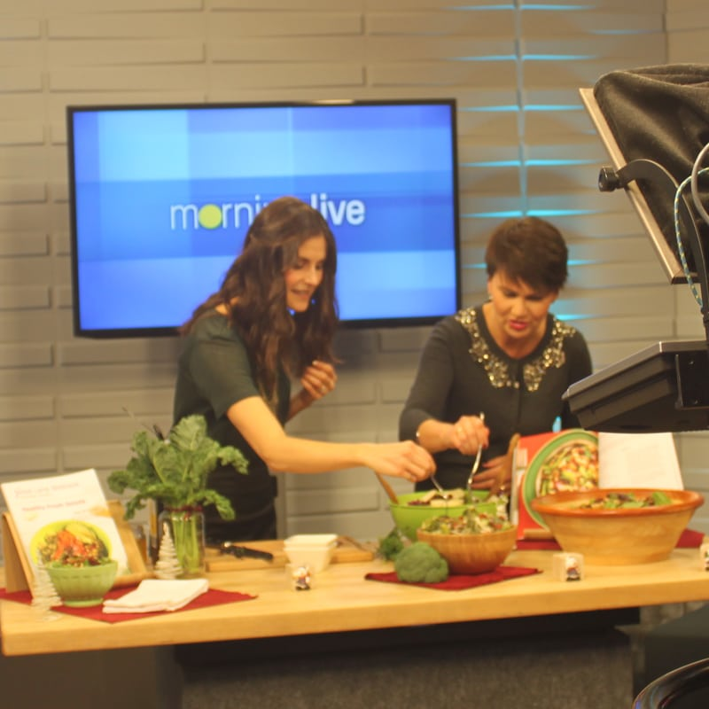 CH Morning Live on November 23 2016 with recipes from Healthy Fresh Salads by @jesselwellness