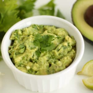 Garlicky Green Guacamole by Jesse Lane Wellness