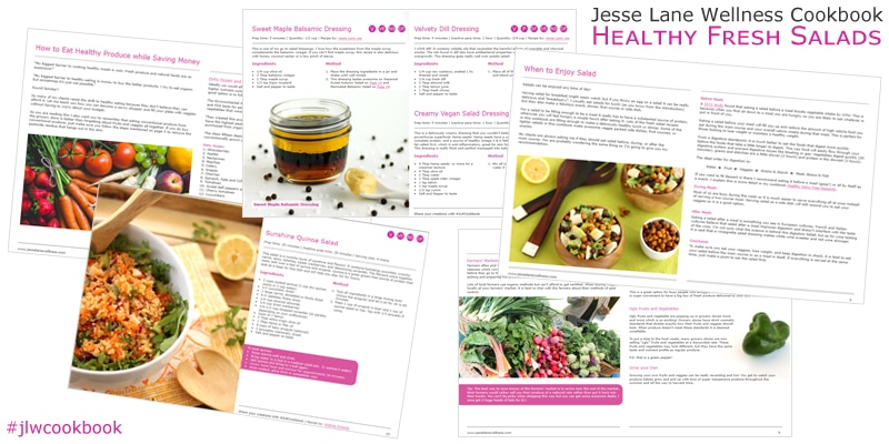 Jesse Lane Wellness Cookbook Healthy Fresh Salads Inside Look @jesselwellness #jlwcookbook #healthyeats