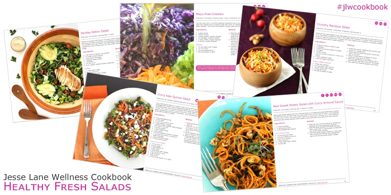 Jesse Lane Wellness Cookbook Healthy Fresh Salads Sneak Peak Recipes @jesselwellness #jlwcookbook #freshsalads