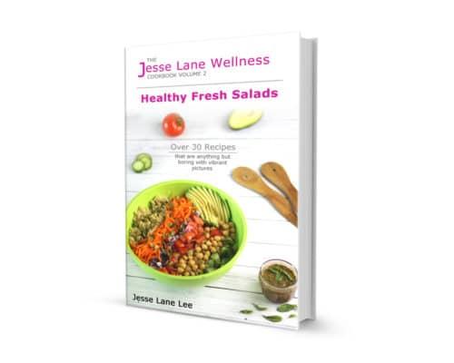 Jesse Lane Wellness Cookbook Healthy Fresh Salads Cover by @jesselwellness #salads #salad