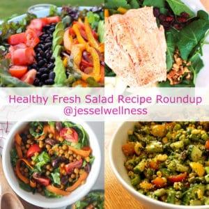 8 Fresh Salad Recipes Roundup with @jesselwellness #salad #saladrecipe