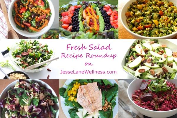 8 Fresh Salad Recipes with @jesselwellness #freshsalad #salads