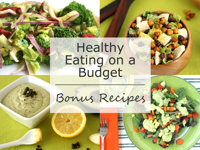 Bonus Recipes in Healthy Eating on a Budget by @jesselwellness #salad #recipes