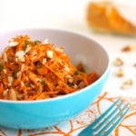 Carrot Salad with Creamy Turmeric Sauce by @jesselwellness #carrot #healthysalad