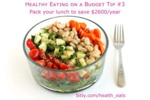 Healthy Eating on a Budget Tip 3 pack your lunch by @jesselwellness #lunch #healthyeats