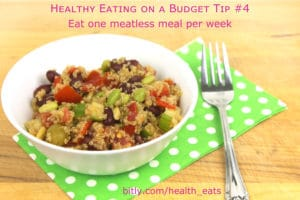 Healthy Eating on a Budget Tip 4 one meatless meal per week by @jesselwellness #veggies #healthyeats