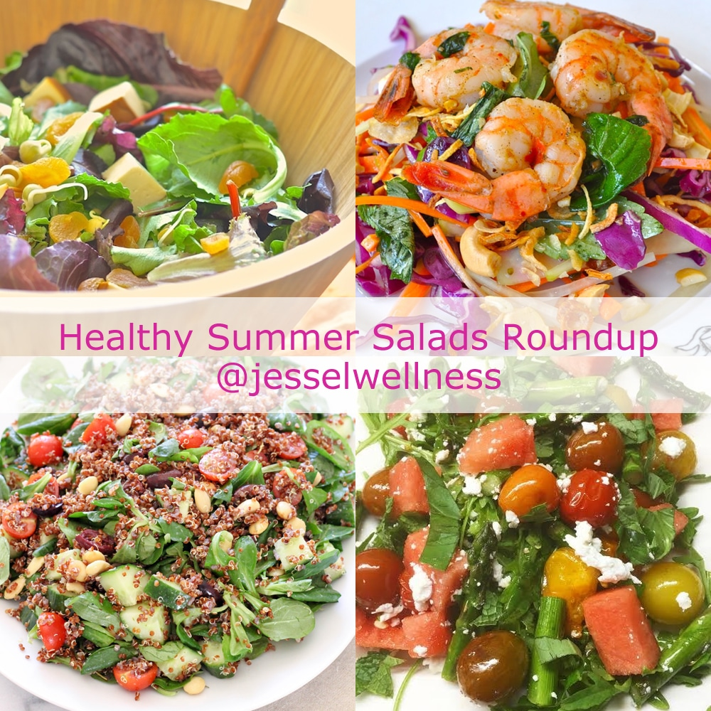 8 Healthy Summer Salads Roundup with @jesselwellness #salad #healthysalad