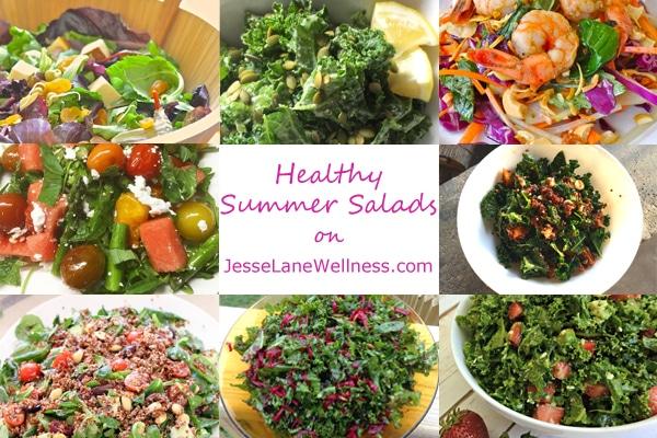 8 Healthy Summer Salads with @jesselwellness #summersalad #salads