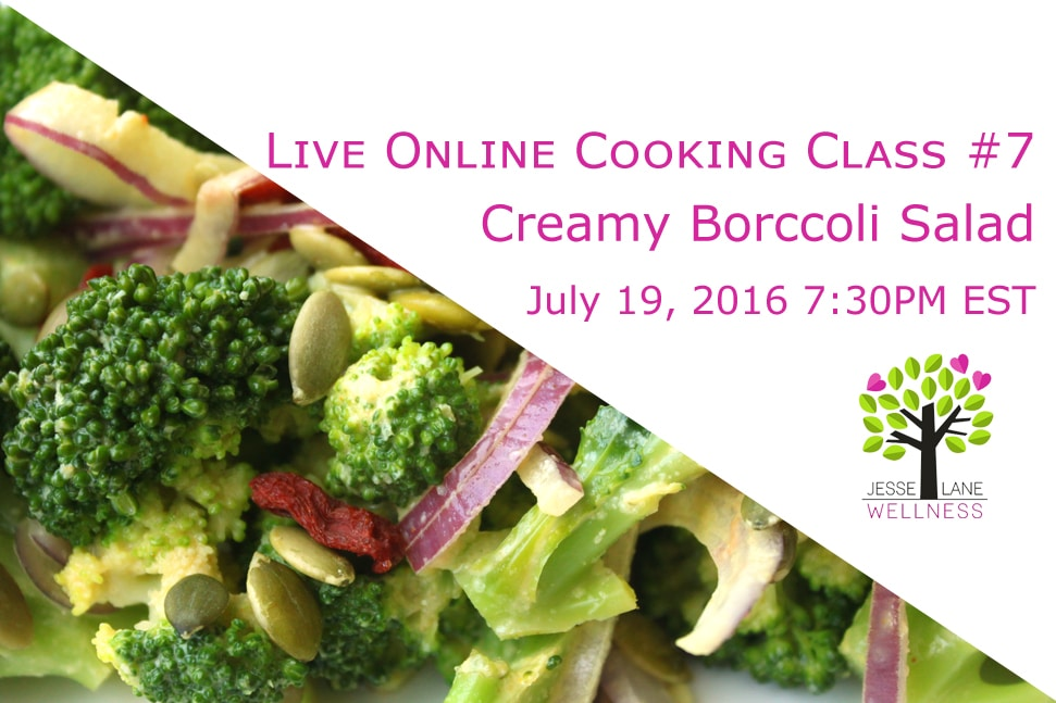 Creamy Broccoli Salad Online Cooking Classe Signup