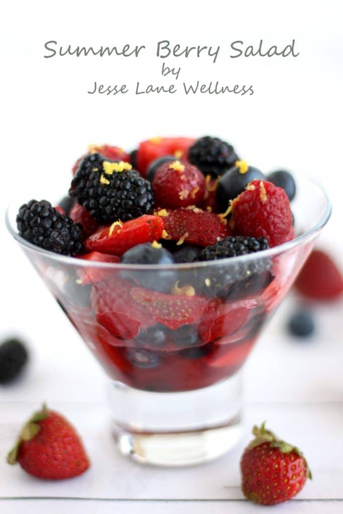Summer Berry Salad by @jesselwellness #salad #strawberries #berries