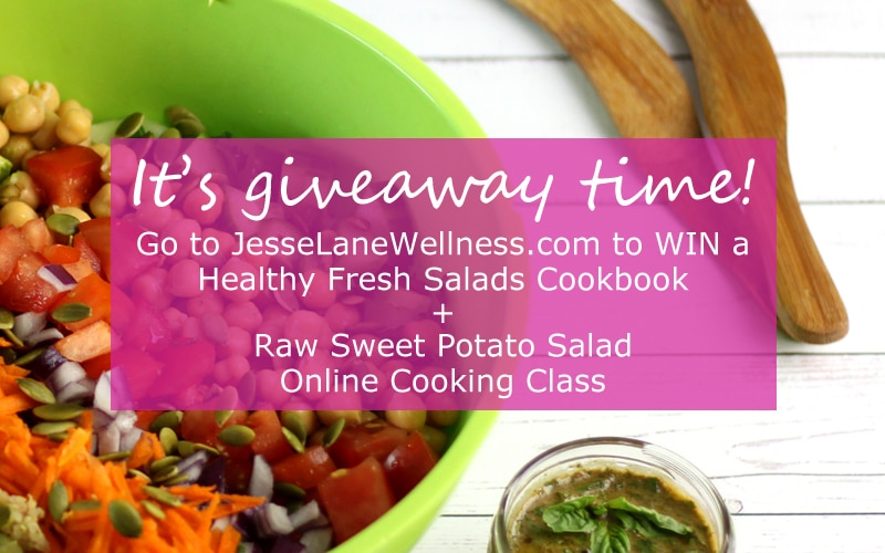 Win a copy of Healthy Fresh Salads wtih @jesselwellness #giveaway #jlwcookbook