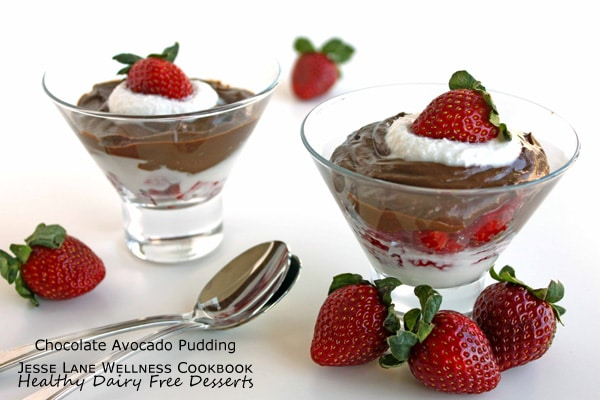 Chocolate Avocado Pudding from Healthy Dairy Free Desserts by @JesseLWellness