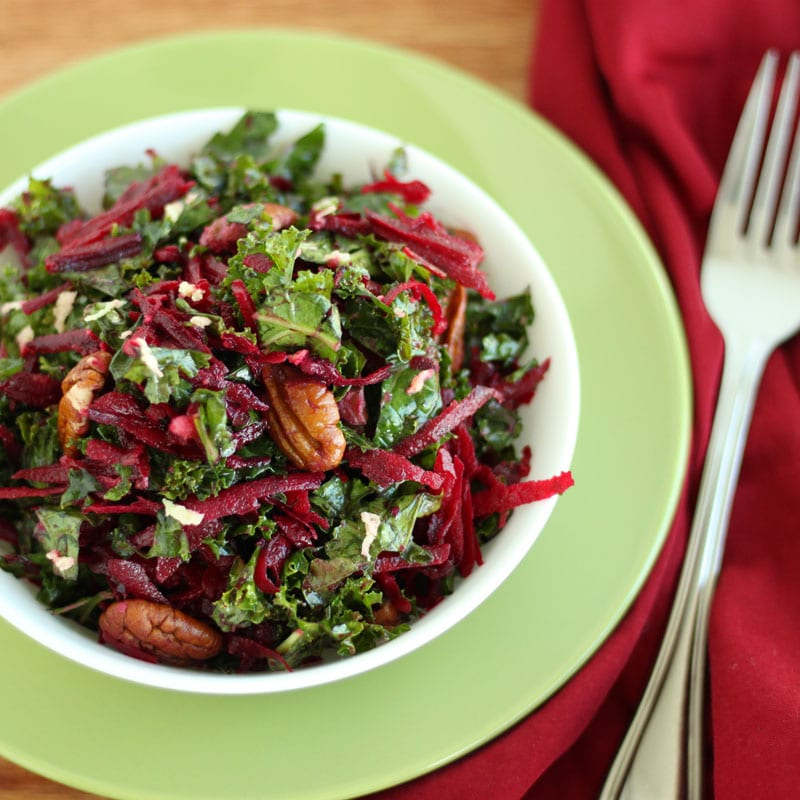 Kale Beet Salad with Ginger Dressing by Jesse Lane Wellness