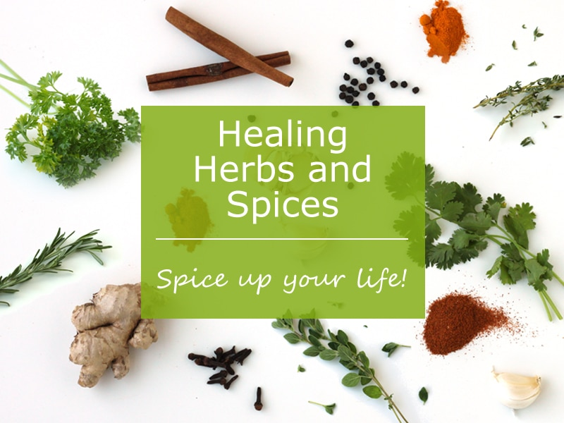 12 Herbs and Spices from Healing Herbs and Spices by @jesselwellness #herbs #spices