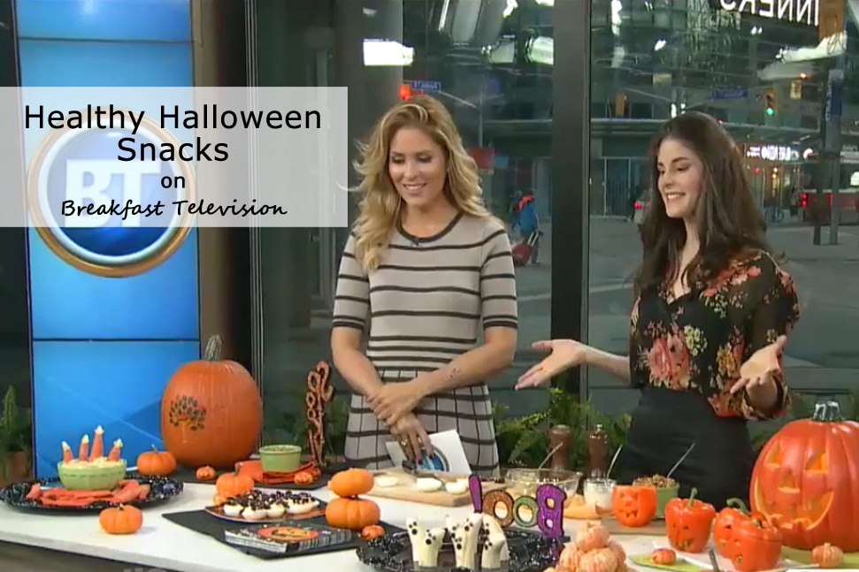Healthy Halloween Snacks on Breakfast Television with @jesselwellness #halloween #toronto