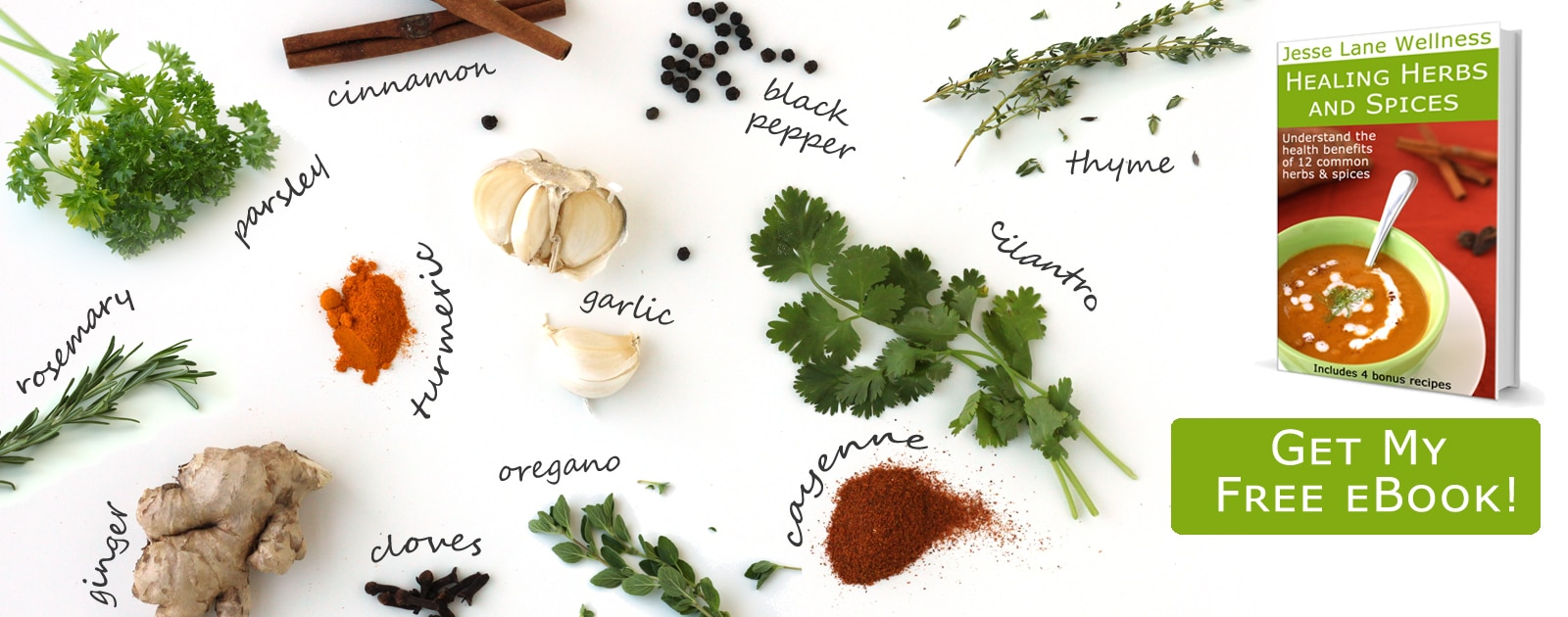 Healing Herbs and Spices eBook by @jesselwellness #eBook #free