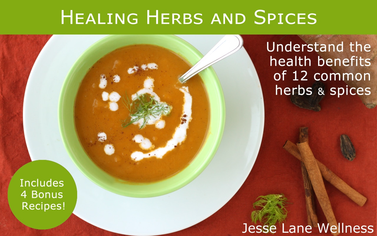 Healing Herbs and Spices FREE ebook by @jesselwellness #spices #herbs
