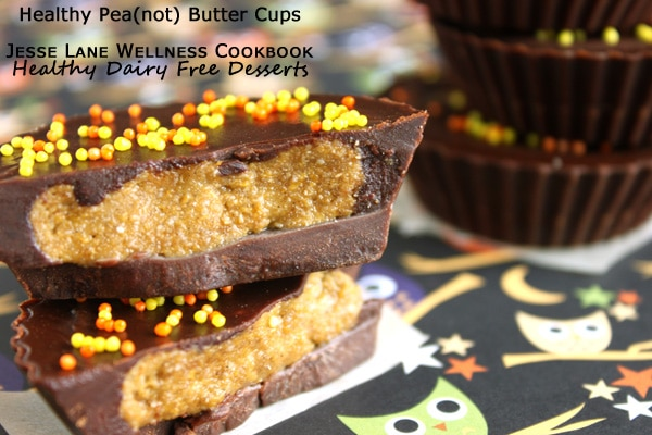 Healthy Pea(not) Butter Cups from Healthy Dairy Free Desserts by @jesselwellness
