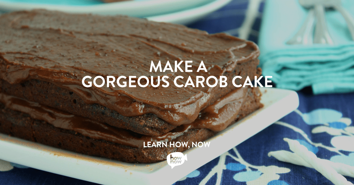Carob Cake Cooking Class on HowNow and @jesselwellness