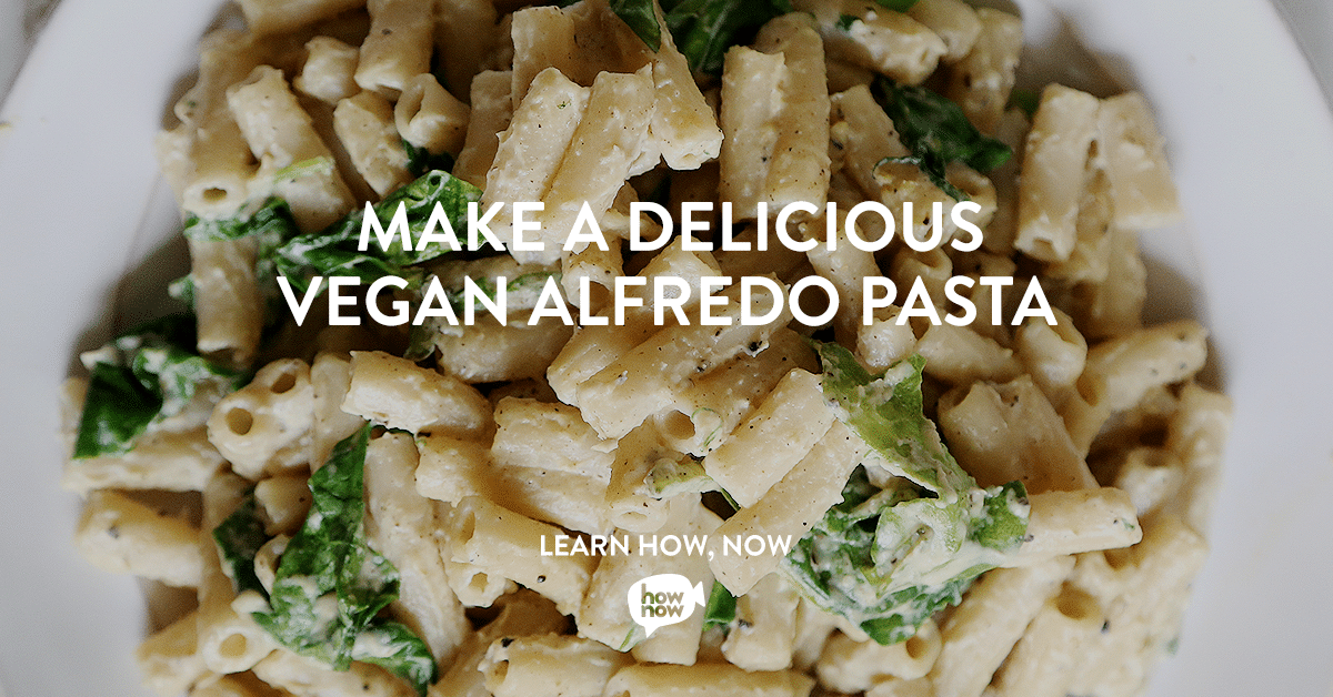 Vegan Alfredo Pasta Cooking Classes on HowNow with @jesselwellness