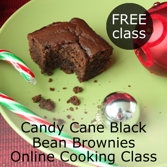 Candy Cane Black Bean Brownies Live Online Cooking Class with @jesselwellness #candycane #holidaybaking