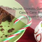 Candy Cane Black Bean Brownies Live Online Cooking Classe YouTube with @jesselwellness