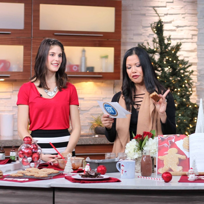 Candy Cane Desserts on Breakfast Television Dec 2016 with @jesselwellness square #holidaydesserts #christmas